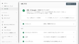 Google Search ConsoleのURL検査ツールを使った検査結果画面